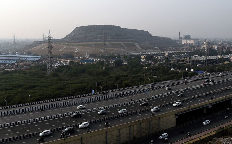 Ghazipur Landfill Site In India Has Become A Hazard For All