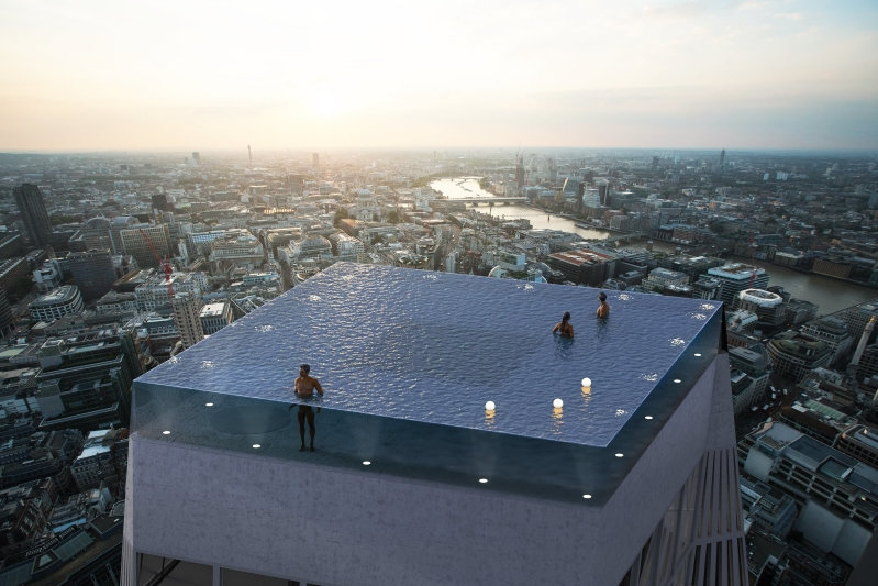 Infinity London Will Have The World's First 360-Degree Swimming Pool