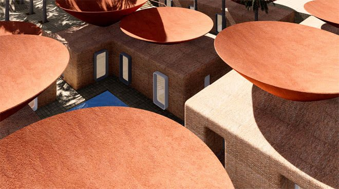 Concave Roof Can Collect Water And Keep Your House Cool Too