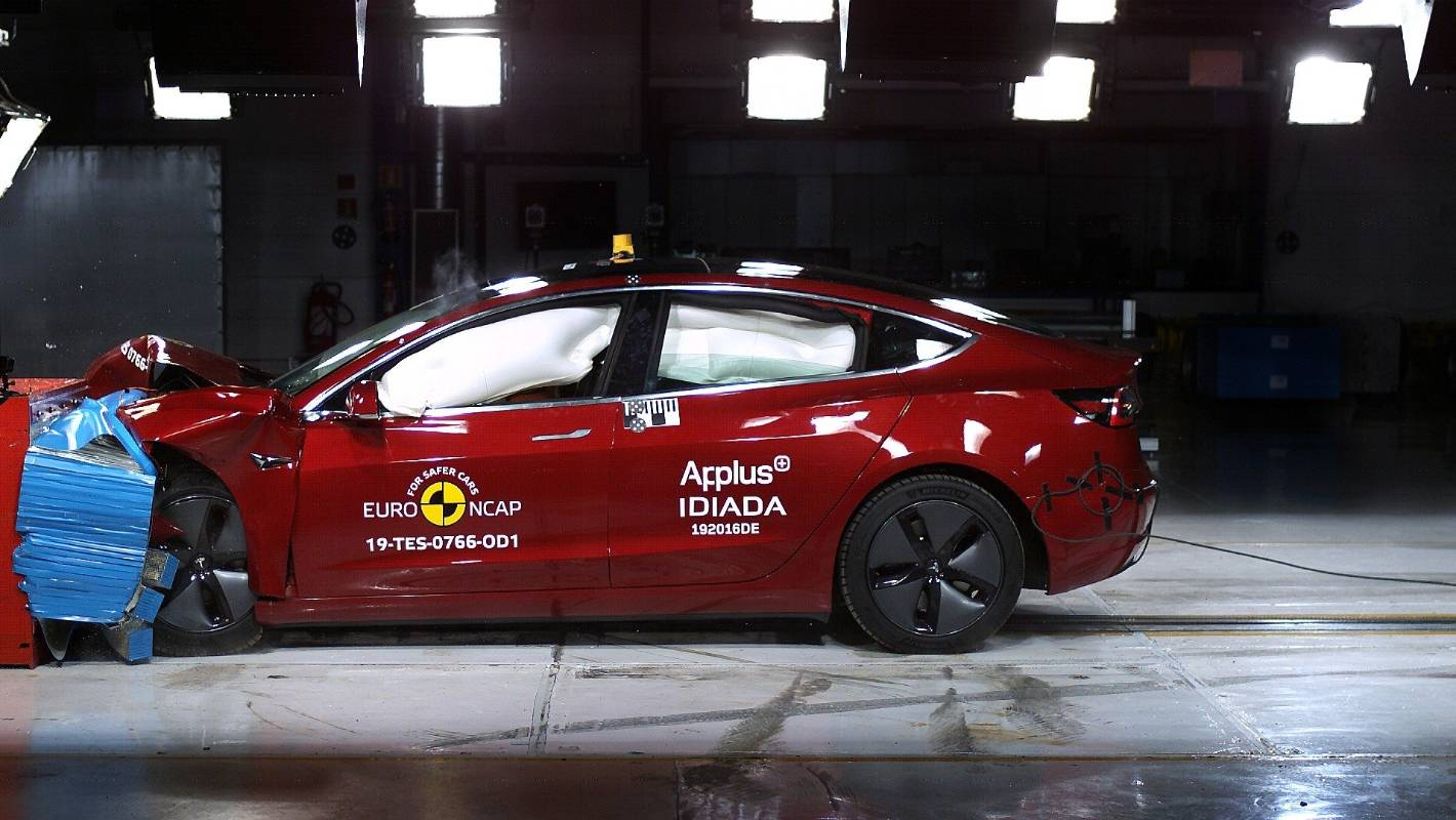 Euro NCAP Thoroughly Checks The Safety Rating Of Tesla Model 3