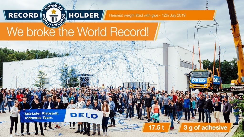 DELO Has Won The World's Strongest Glue Record Using A 17-Ton Truck