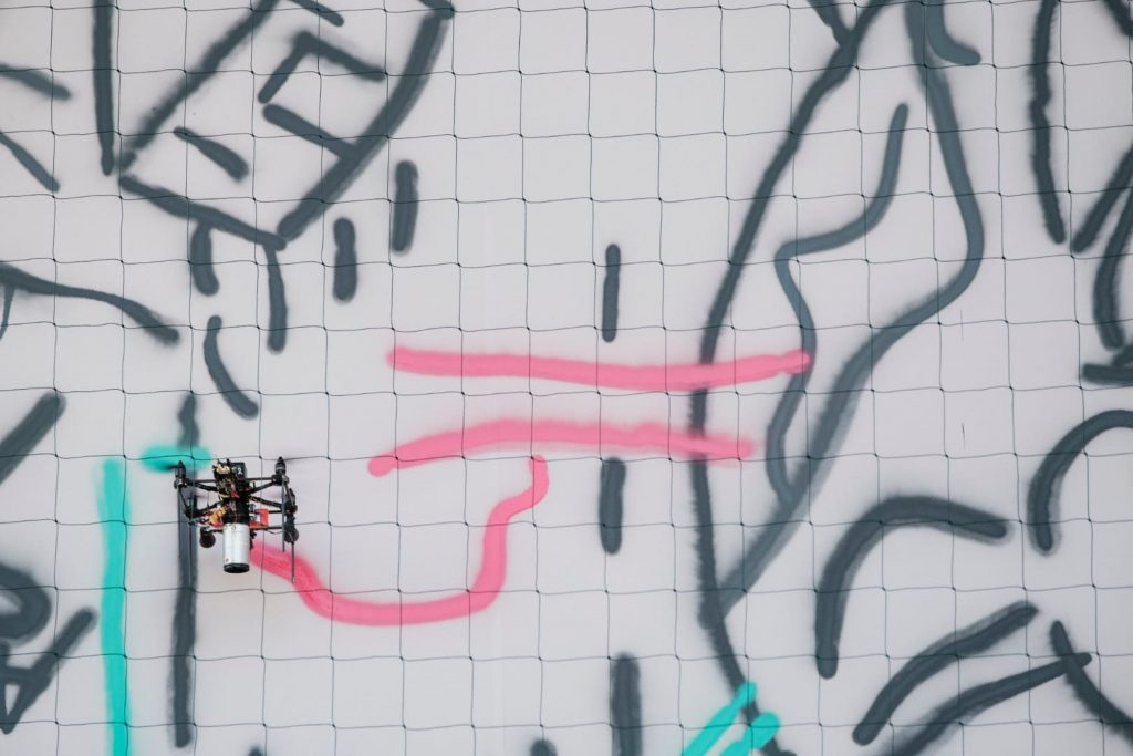 Paint By Drone Used By Urban Flying Opera Project For Creating A Mural
