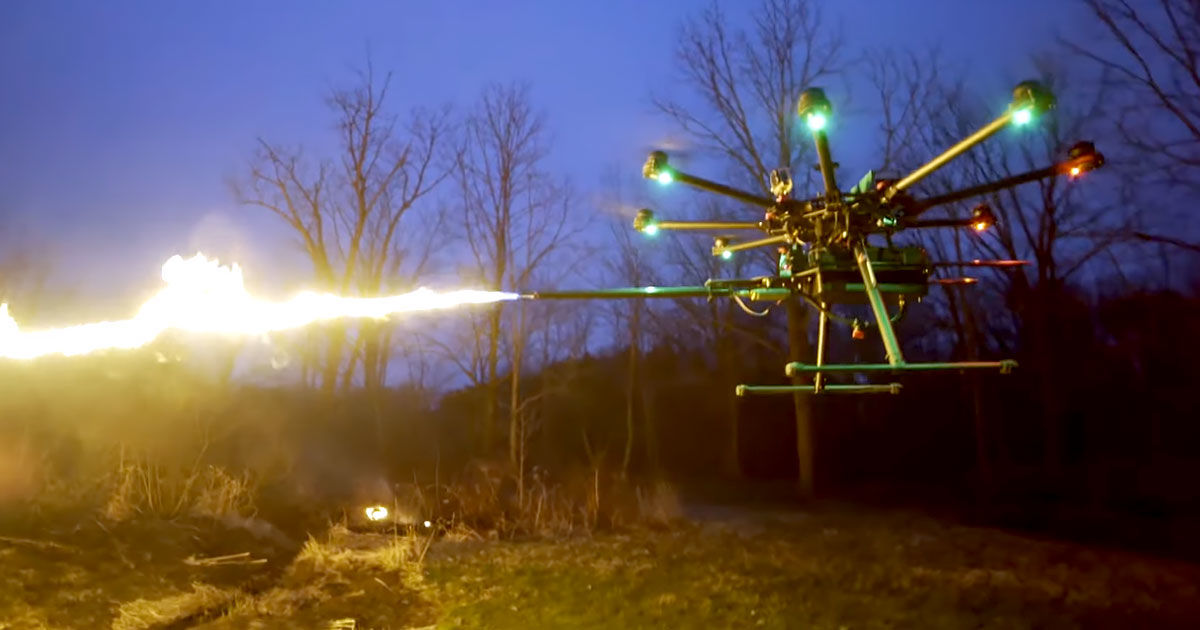 The Wasp Drone Flamethrower Is Now Available In The Market
