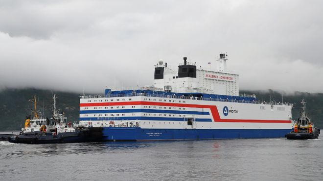 Akademik Lomonosov Is Russia's Floating Nuclear Power Station In Arctic