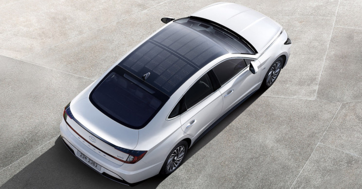 Hyundai's Sonata Has Solar Roof Capable Of Charging Its Battery