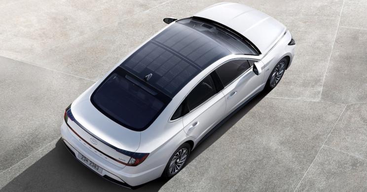 Hyundai's Sonata Has Solar Roof Capable Of Charging Its Battery