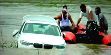Indian Youth Unhappy With The Brand Of The Car, Throws It In River