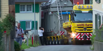 The Journey Of A 190-Ton Transformer From Germany to Switzerland