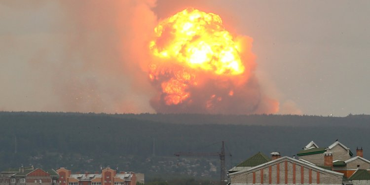 There Has Been An Explosion At A Russian Army Ammunition Depot