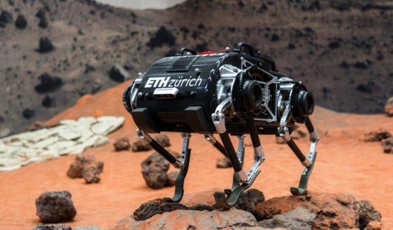 SpaceBok Robot Jumps Around To Travel In Low-Gravity Environments