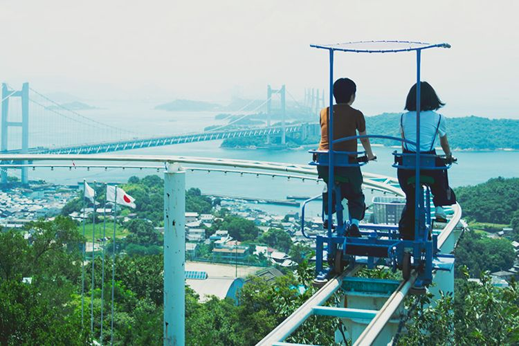 SkyCycle Is A Pedal-Powered Roller Coaster Ride In Japan
