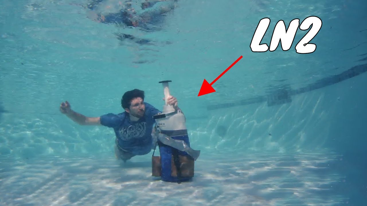 This Is What Happens When You Open Liquid Nitrogen Bottle Underwater