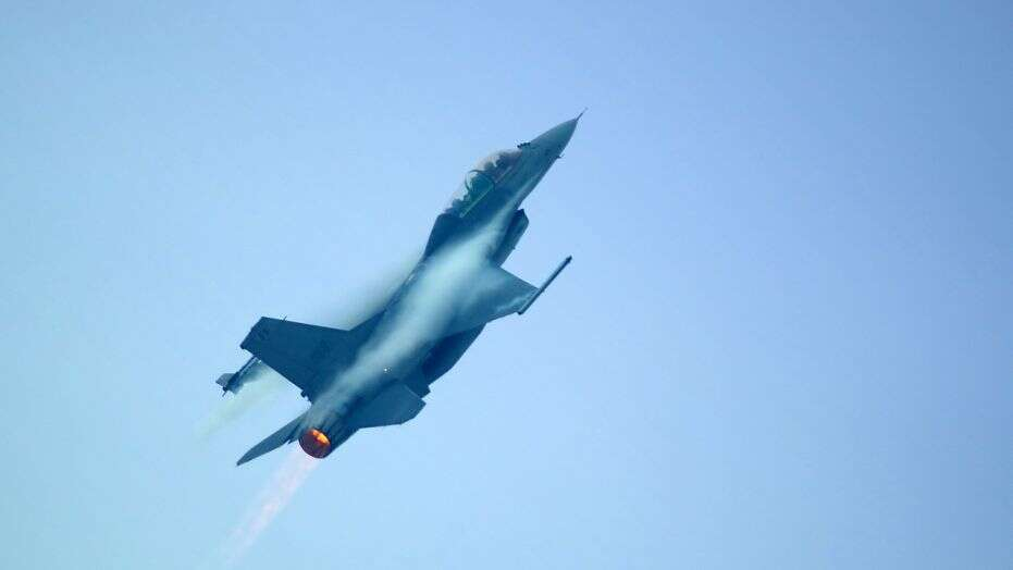 Belgian F-16 Crashes In France, Pilot Hangs From The Power Lines