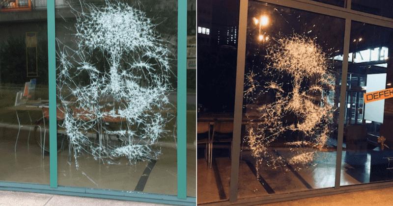 Simon Berger Creates Artworks Using Hammer & Chisel On Glass Panes
