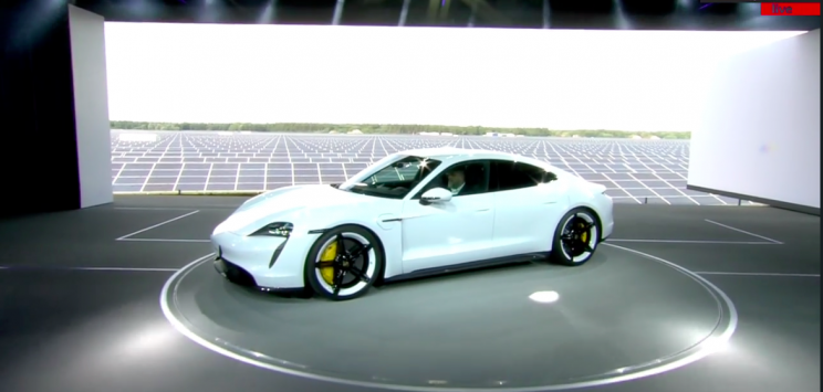 The Porsche Taycan Is Porsche's First All-Electric Sports Car