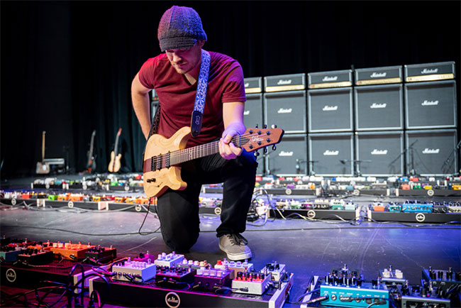 This Is The World's Largest Guitar Pedalboard Ever!