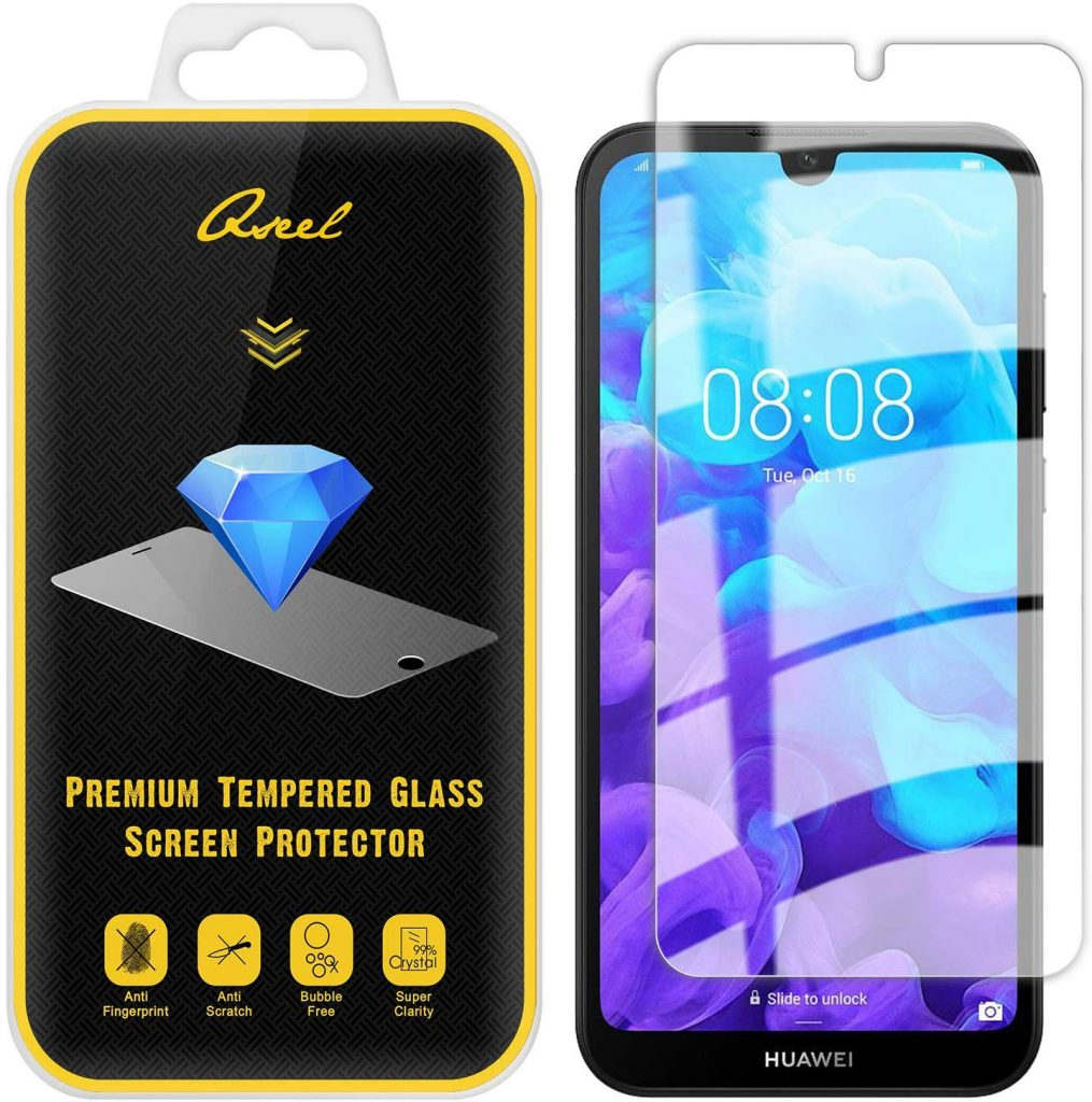 HD Clear Tempered Glass Film for Huawei Enjoy 7S Tempered Glass Screen Protector Compatible with Enjoy 7S 1 Pack UNEXTATI 9H Hardness Screen Protector Film