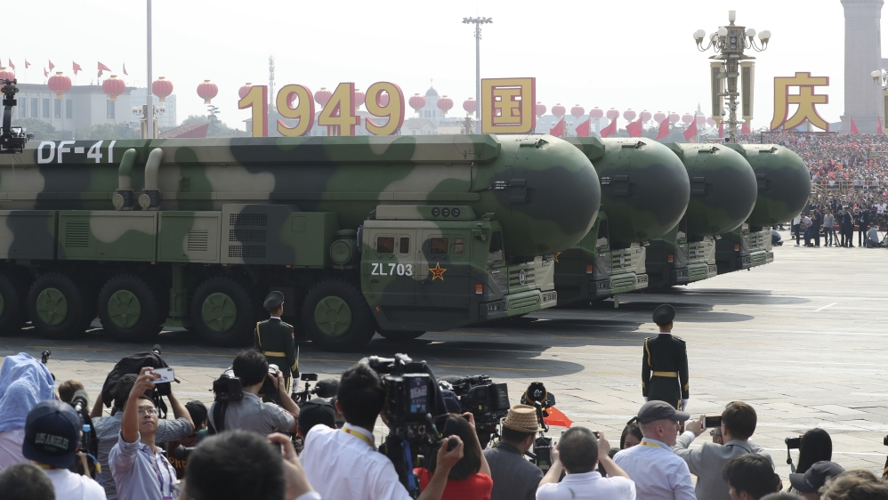 China Shows Off The New DF-17 Nuclear Missile On Its 70th Anniversary