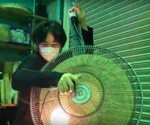 Watch This Guy Create A Bass Instrument Using A Simple Fan