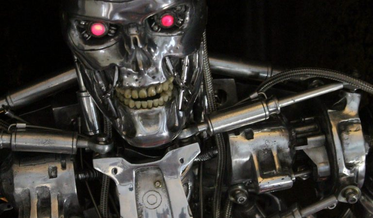 Guy Spends 4 Year To Build This Metallic T-800 Terminator Endoskeleton