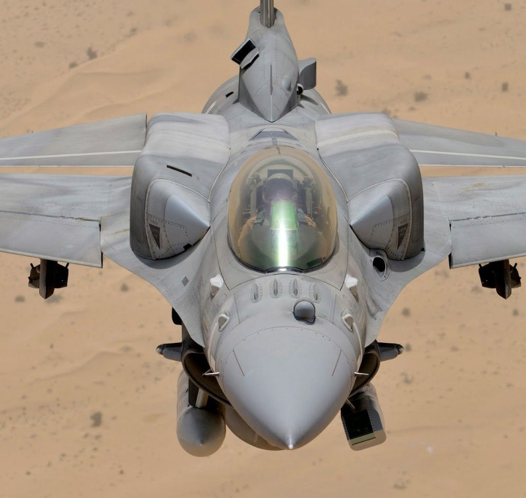 This Is What The Ball On The Nose Of UAE's Block 60 F-16E/F Desert Falcon Does