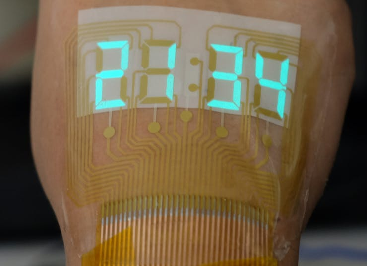 The ACEL Display Can Be Worn On Skin Like A Temporary Tattoo
