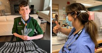 Boy Scout 3D Prints Ear Guards To Assist Medical Staff