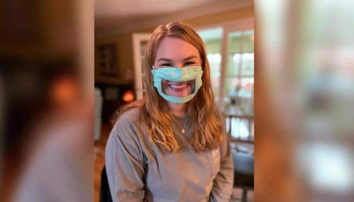 28 Years Old Student Creates Face Masks For Hearing Impaired