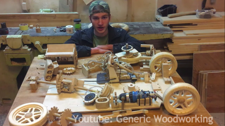 17-Year-Old Builds A Functional Wooden Car As A Physics Project