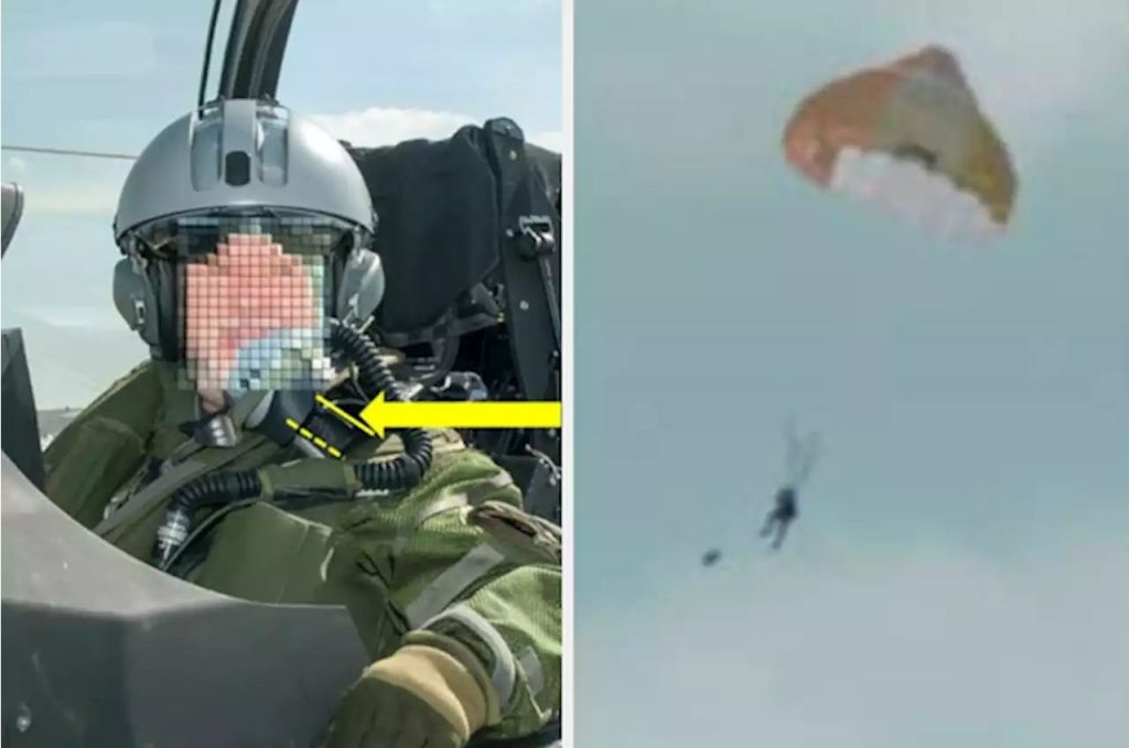This Passenger On A Fighter Jet Accidentally Ejected Himself Mid-Flight