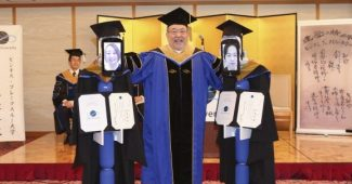 BBT University In Japan Held A Virtual Graduation Ceremony Using Robots