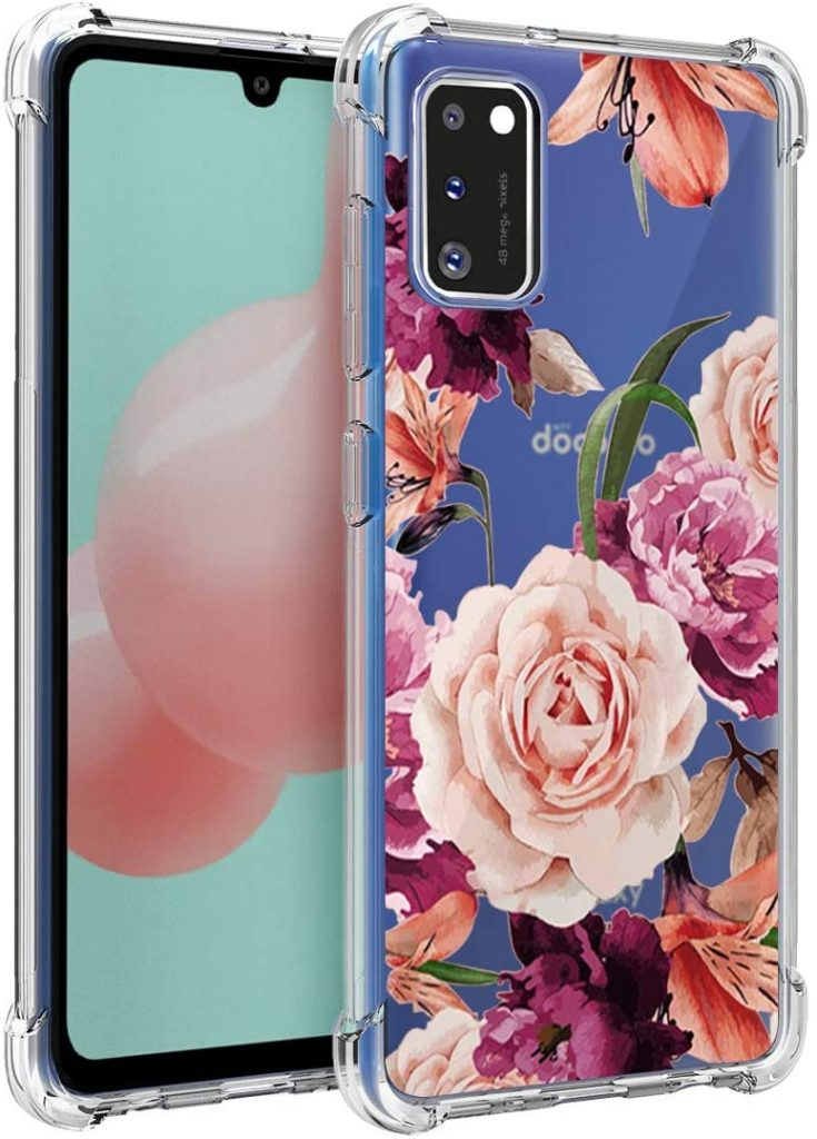 Heavy Duty Galaxy A41 Cover ROSE GOLD Shockproof Hard Protection Galaxy A41 Case Dual Layer Survivor Cover For Samsung Galaxy A41 Protective Bumper