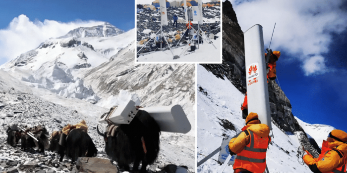 The Highest 5G Antenna Installation Completed By Huawei