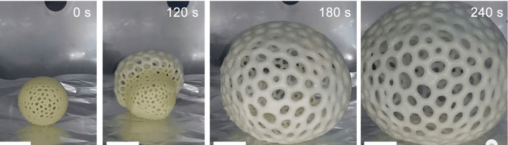 This 3D Printed Foam By UC San Diego Can Expand 40 Times Its Volume