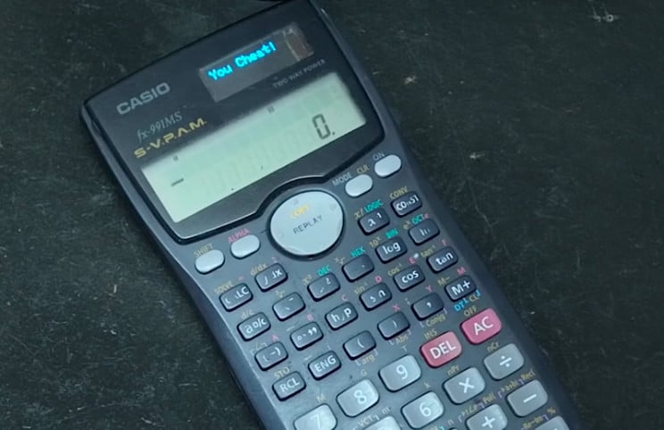 This Casio Calculator Is A Sophisticated Cheating Gadget