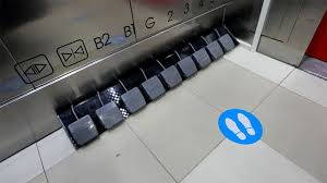 Seacon Square Installed Foot Pedals Instead Of Lift Buttons