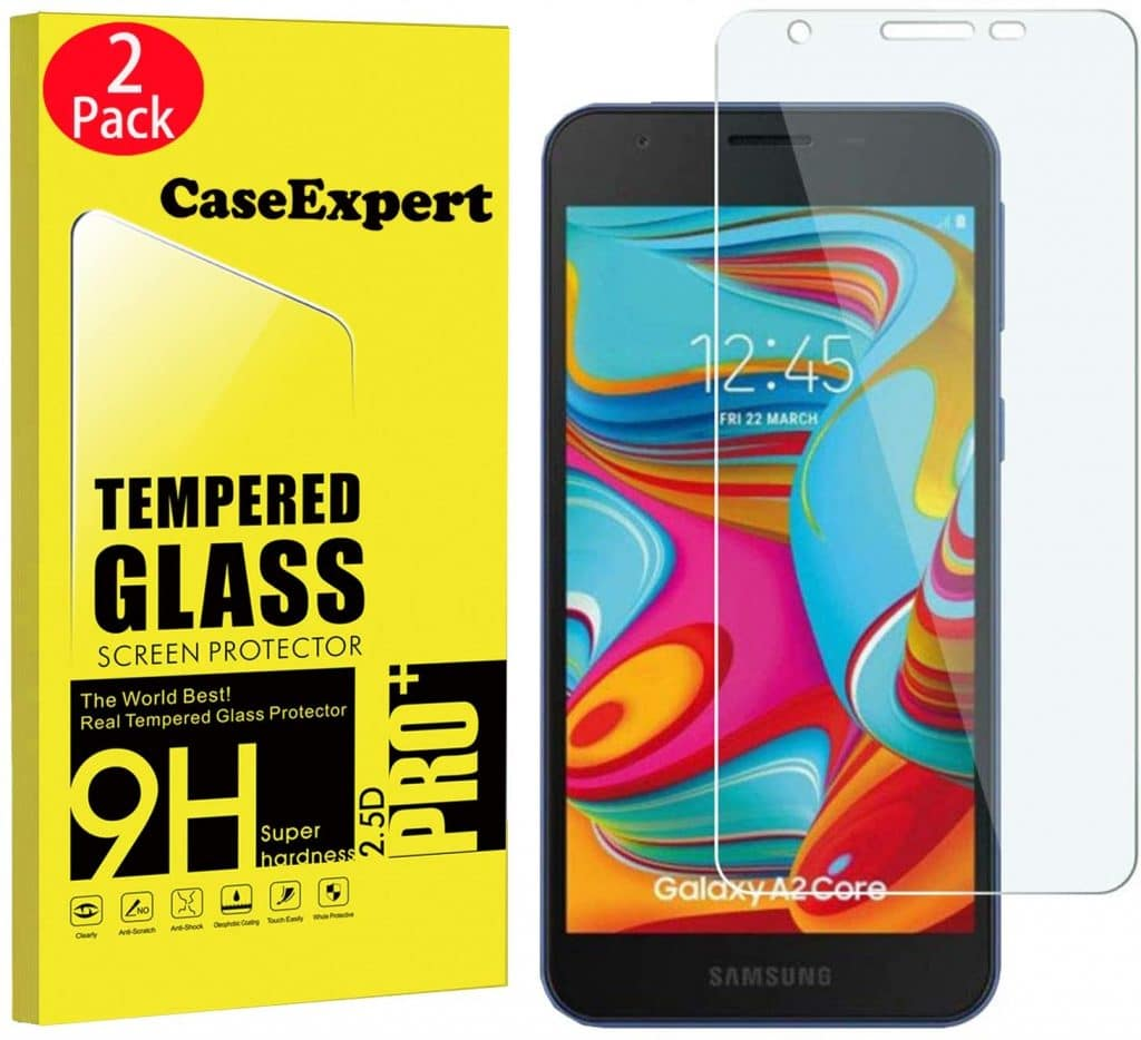 1 Pack Bubble Free 9H Scratch Resistant Tempered Glass Screen Protector Film Compatible with Samsung Galaxy A2 Core The Grafu Screen Protector for Galaxy A2 Core