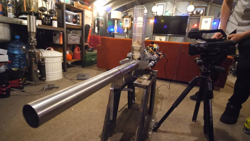 Colin Furze Is Back With A Potato Launcher For His Tank