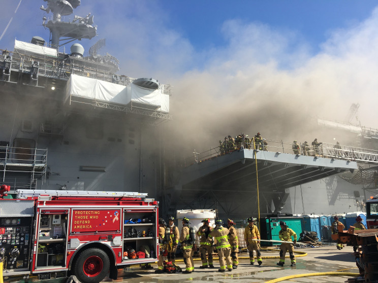 USS Bonhomme Richard Fire Shown In Images