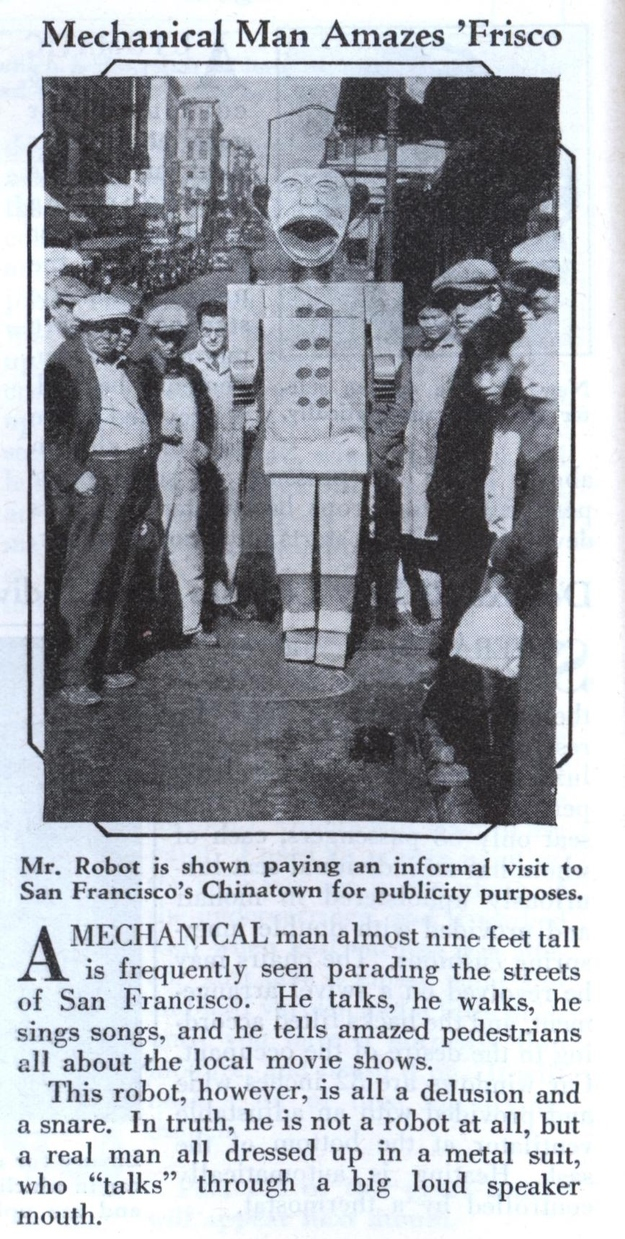 From 1931. WHY IS HE 9-FEET TALL? Look at that face.