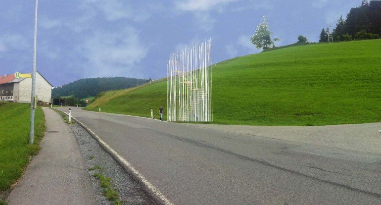 Sou Fujimito's bus stop design is perhaps the most abstract
