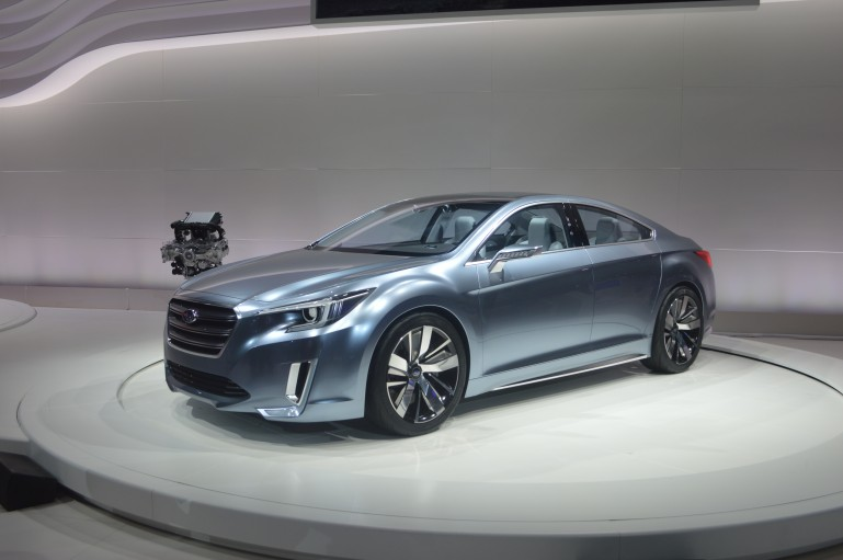 Subaru debuts the Legacy Concept at the 2013 LA Auto Show