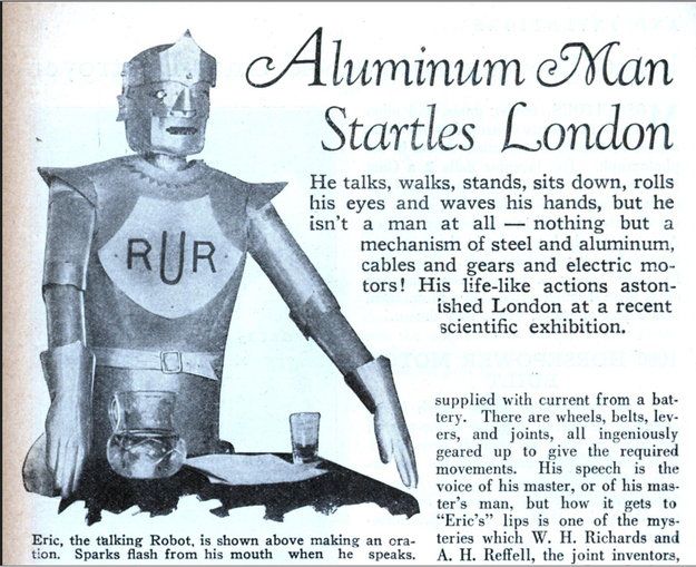 "From 1929. Its name is ""Eric."" That RUR is not sinister at all."