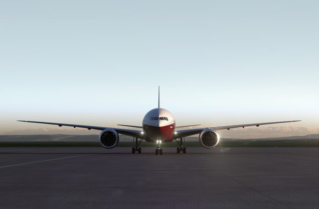 The wingspan of the 777X is 233 feet (71 meters)