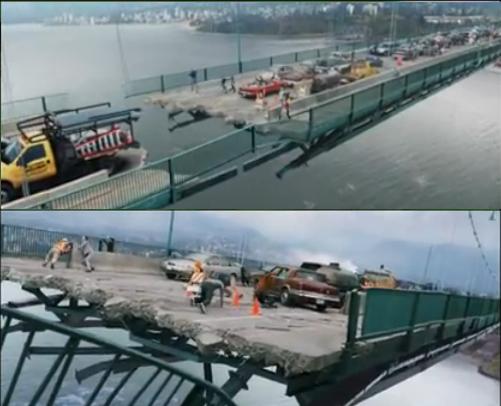 """The bridge scenes in """"Final Destination 5"""" ..."""