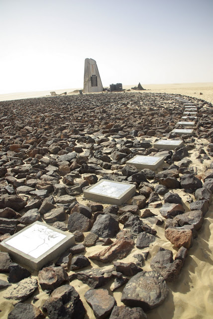 The memorial was partly funded by the $170 million compensation package provided by the Libyan government.