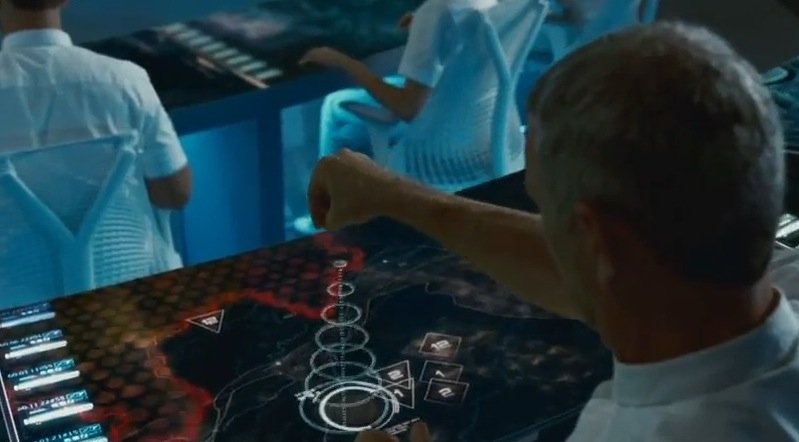 "And, the 3D touchscreens in ""The Hunger Games"" ..."