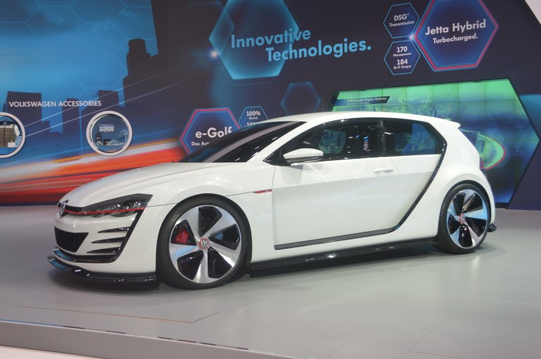 The Design Vision GTI designers experimented with the C-pillar as an 'autonomous design el...