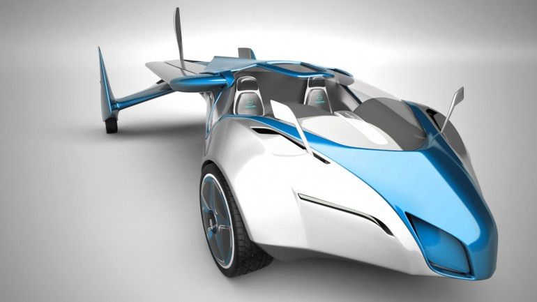 Front view of the sleek Aeromobil flying car in ground mode (Photo: Aeromobil)