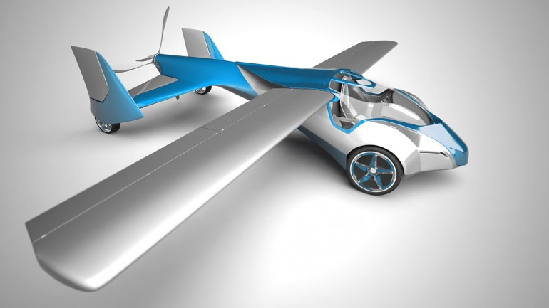Side view of the Aeromobil in airplane mode, ready for takeoff (Photo: Aeromobil)